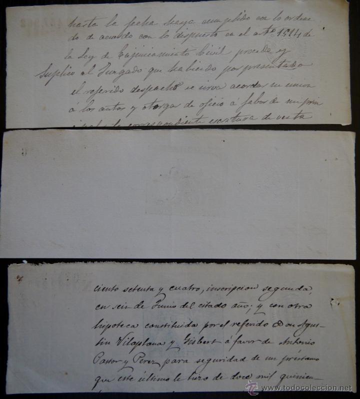 Sellos: TRES SELLOS CLASICOS FISCALES 1883, 1884 Y 1885. ANTIGUOS SELLOS FISCALES TIMBROLOGIA FILATELIA FISC - Foto 2 - 51389471