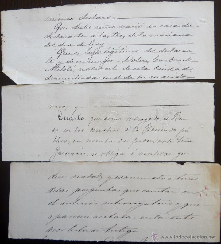 Sellos: TRES SELLOS CLASICOS FISCALES 1885, 1885 Y 1887. ANTIGUOS SELLOS FISCALES TIMBROLOGIA FILATELIA FISC - Foto 2 - 51389746