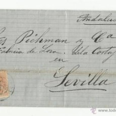 Timbres: CIRCULADA 1882 DE BILBAO A SEVILLA VER FOTO. Lote 52596424
