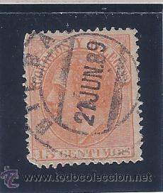 EDIFIL 210 ALFONSO XII. 1882. EXCELENTE MATASELLOS DE BILBAO (21 JUN. 89). (Sellos - España - Alfonso XII de 1.875 a 1.885 - Usados)