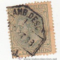 Sellos: EDIFIL 201. MATº AMBULANTE DESCENDENTE. ALFONSO XII 1879.. Lote 54445752
