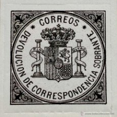Sellos: SPAIN ESPAÑA CORREOS SELLO DE DEVOLUCION 1875 - ESCUDO DE ESPAÑA SELLO STAMP. Lote 54927378