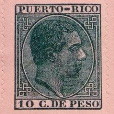 Sellos: SPAIN ESPAÑA 10 CTVOS DE PESO 1882 ALFONSO XII PUERTO RICO SELLO STAMP NUEVO. Lote 54927463