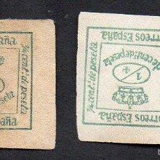Sellos: AÑO 1876 - EDIFIL 173 - 2/4 DE 4/4 DE CORONA REAL. Lote 56333102