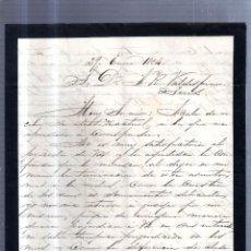 Sellos: CIRCULAR PUBLICITARIA. PLADELLORENS. DE BARCELONA A JEREZ. 1894. CON SELLO. VER. Lote 56777842