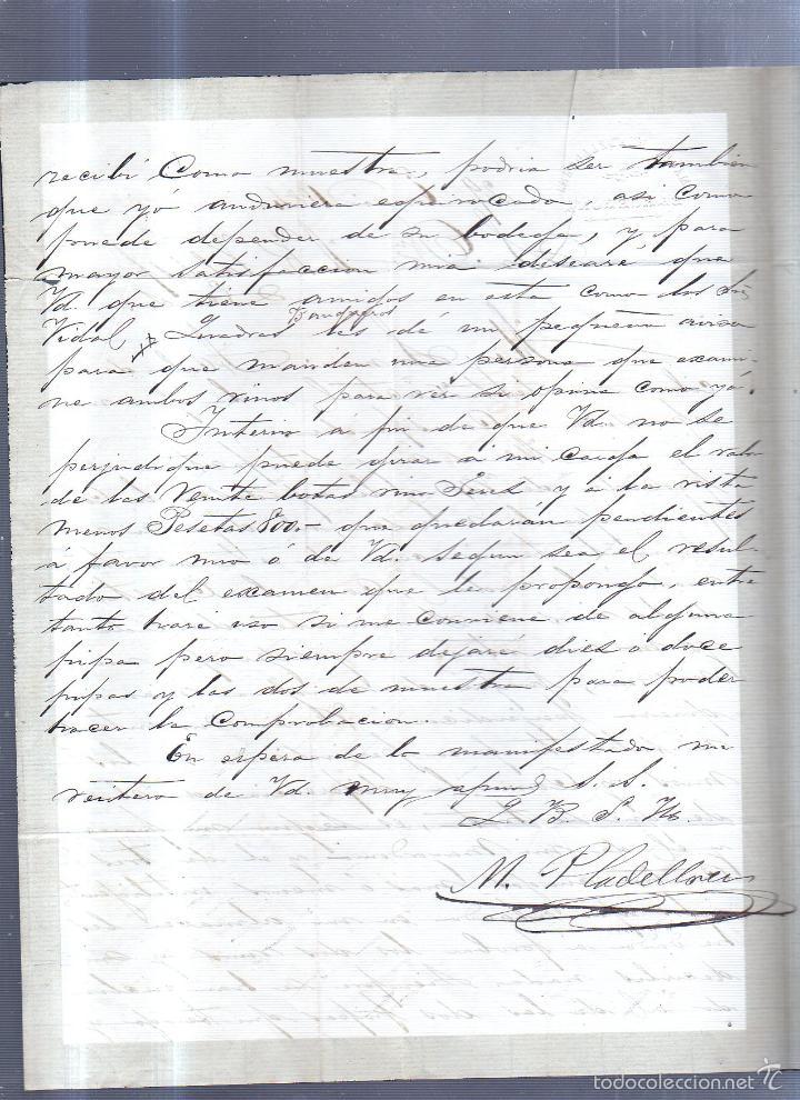 Sellos: CIRCULAR PUBLICITARIA. PLADELLORENS. DE BARCELONA A JEREZ. 1894. CON SELLO. VER - Foto 2 - 56777842