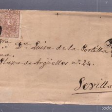 Sellos: CARTA DIRIGIDA DE BILBAO A SEVILLA. VER SELLO. Lote 56866877