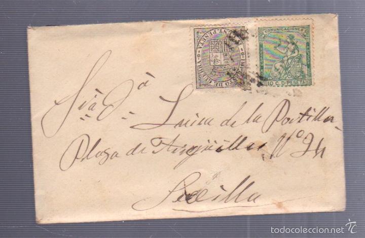 CARTA DIRIGIDA DE MADRID A SEVILLA. VER SELLO (Sellos - España - Alfonso XII de 1.875 a 1.885 - Cartas)