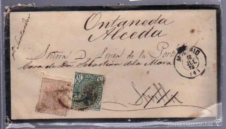 CARTA DIRIGIDA DE MADRID - SEVILLA - ALCEDA. VER SELLO (Sellos - España - Alfonso XII de 1.875 a 1.885 - Cartas)