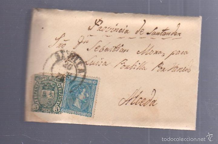 CARTA DIRIGIDA DE SEVILLA A ALCEDA. VER SELLO (Sellos - España - Alfonso XII de 1.875 a 1.885 - Cartas)