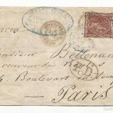 Sellos: ENVUELTA CIRCULADA 1875 DE RIVADESELLA OVIEDO A PARIS. Lote 114447179