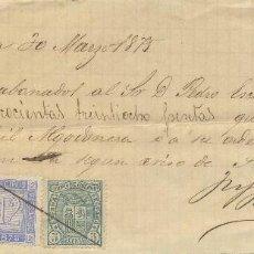 1875 tarragona fiscal se recibos e impuesto de guerra, fabril algodonera