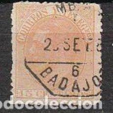 Sellos: EDIFIL 210, ALFONSO XII, USADO MATASELLO DE BADAJOZ. Lote 63336296