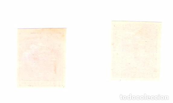 Sellos: ALFONSO XII. EDIFIL 202 y 210.ERROR. DOBLE IMPRESION. SIN DENTAR. RARO - Foto 2 - 66137434