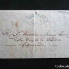 Sellos: AÑO 1877. CARTA DE PARÍS A PALMA. DELGADO Y CIA. ENTREGADA EN MANO.. Lote 67227497