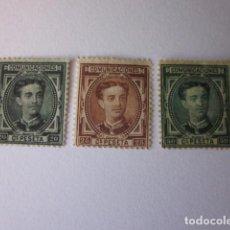 Sellos: EDIFIL 176-177 Y 179. ALFONSO XII. 1878. NUEVOS.. Lote 70124897