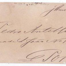 Sellos: SOBRE DE 1882. DE REDONDELA. PONTEVEDRA. GALICIA A PORTUGAL. TRÉBOL. DORSO CON MATASELLOS. Lote 70624373