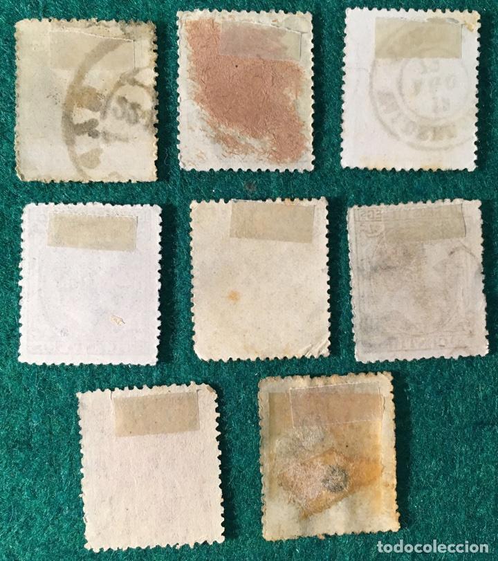 Sellos: Año 1879. Alfonso XII. Nº 200, 201, 202, 204, 205, 206, 207 y 208 - Foto 2 - 71749077