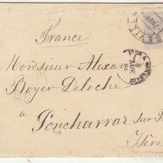 Sellos: SELLO 204. FUENTERRABIA GUIPÚSCOA A ISERE (GRENOBLE). 1884.. Lote 73635959