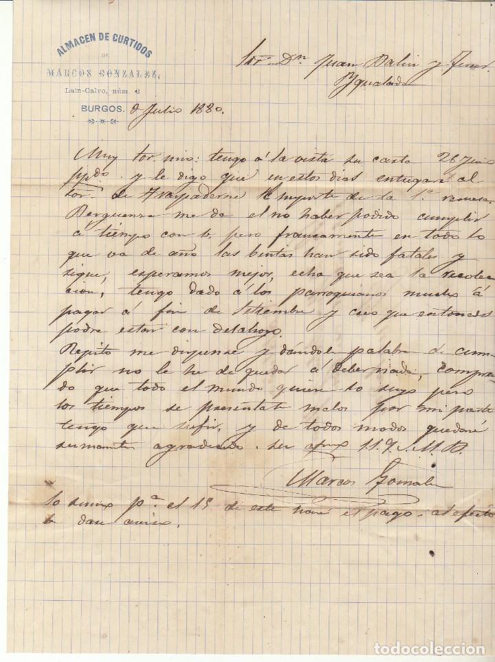 Sellos: Sello 204. BURGOS a YGUALDA. 1880. - Foto 3 - 73636687
