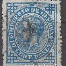 Sellos: EDIFIL 184, ALFONSO XII, SELLO DE IMPUESTO DE GUERRA, USADO. Lote 73693291