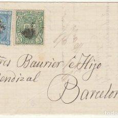 Sellos: SELLOS 164 Y 154: REUS A BARCELONA . 1876.. Lote 75484431
