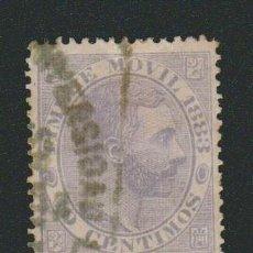 Sellos: ESPAÑA.FISCAL TIMBRE MOVIL 1883.-10 CTS.USADO.. Lote 75579471