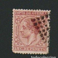Sellos: ESPAÑA.1877.ALFONSO XII.IMPUESTO DE GUERRA.15 CTS.EDIFIL 188.USADO.. Lote 75632255