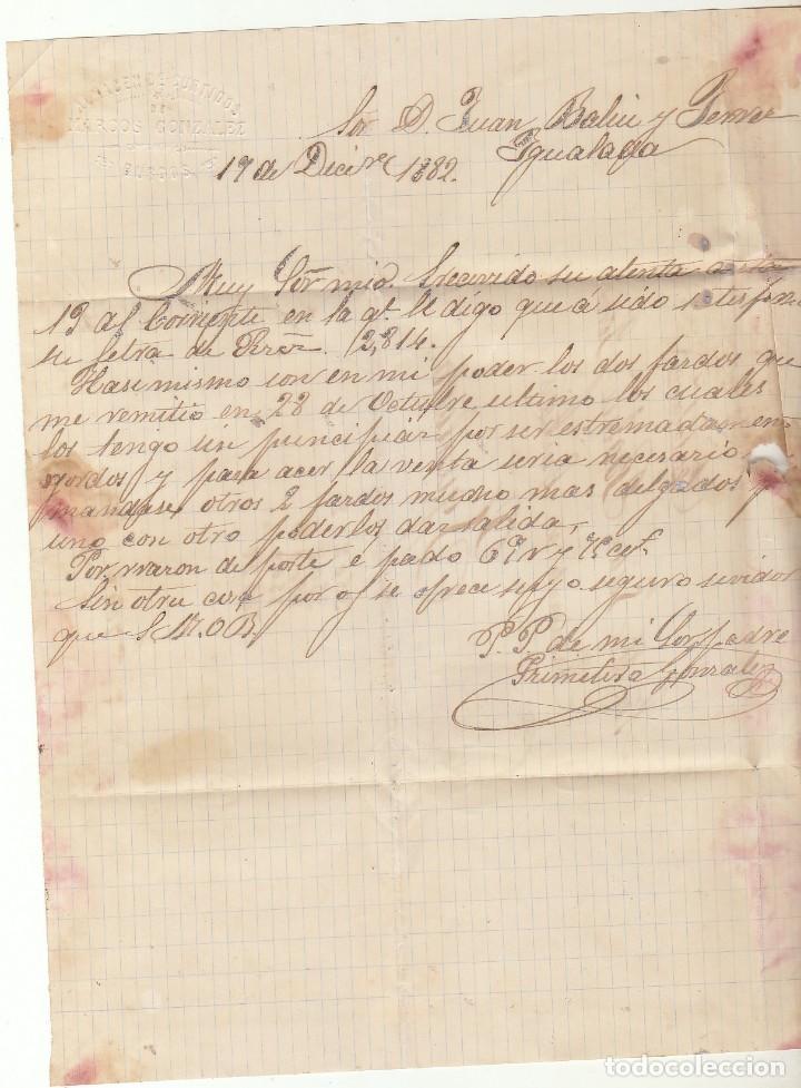 Sellos: Sello 210 : BURGOS a YGUALADA. 1882. - Foto 2 - 75957831