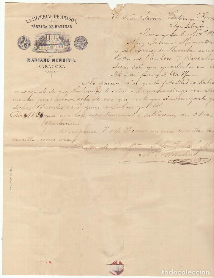 Sellos: Sello 210 : ZARAGOZA a YGUALADA. 1882. - Foto 3 - 75959099