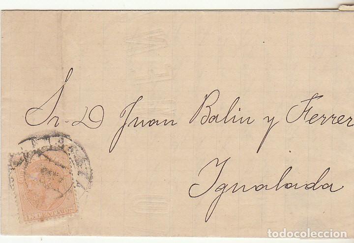 SELLO 210 : BURGOS A YGUALADA. 1883. (Sellos - España - Alfonso XII de 1.875 a 1.885 - Cartas)