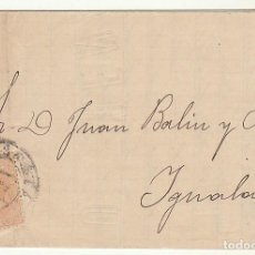 Sellos: SELLO 210 : BURGOS A YGUALADA. 1883.. Lote 75960787