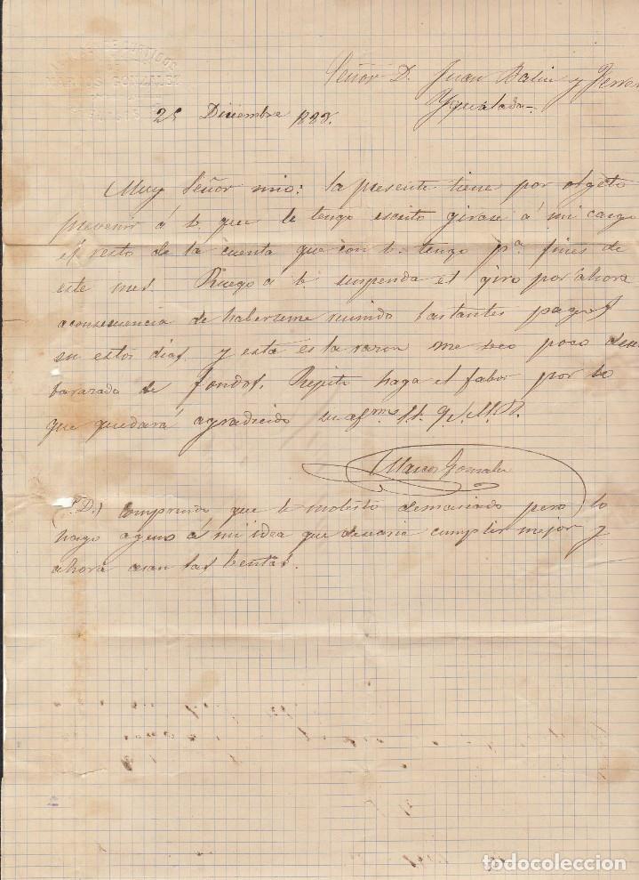 Sellos: Sello 210 : BURGOS a YGUALADA. 1883. - Foto 2 - 75960787