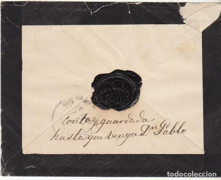Sellos: Sello 210 : (SOBRE DE LUTO) MERIDA a SEVILLA. 1883.....Sra CONDESA...... - Foto 2 - 75962707