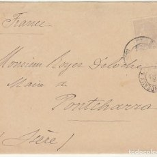 Sellos: SOBRE : SELLO 204. SEVILLA A PONTCHARRA-ISERE (FRANCIA) 1894. CONSULADO ..... Lote 75964555