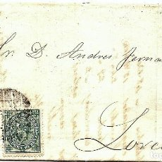Sellos: ENVUELTA CIRCULADA DE BARCELONA A LORCA (MURCIA) - IMPUESTO GUERRA Y COMUNICACIONES AÑO 1877. Lote 76521471