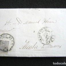 Sellos: AÑO 1880. CARTA DE ALCAZAR DE SAN JUAN (CIUDAD REAL) A ALCALÁ DE HENARES. Lote 76676391