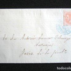 Sellos: AÑO 1884. CARTA DE SANLUCAR DE BARRAMENDA A JEREZ. CÁDIZ. Lote 76837171