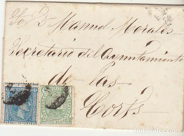 ENVUELTA : SELLOS 154 Y 164. (Sellos - España - Alfonso XII de 1.875 a 1.885 - Cartas)