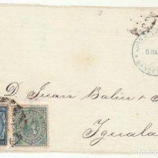 Sellos: FRONTAL : SELLOS 175 Y 183 . BARCELONA A YGUALADA. 1877.. Lote 77722733