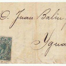 Sellos: FRONTAL : SELLOS 175 Y 183 . ZARAGOZA A YGUALADA. 1876.. Lote 77722929