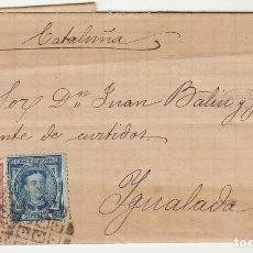 Sellos: SELLOS 175 Y 188 : MADRID A YGUALADA AÑO 1877.. Lote 77723833