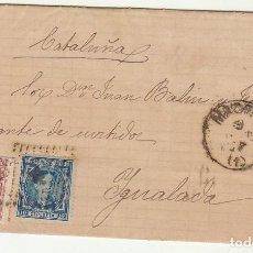 Sellos: SELLOS 175 Y 188 : MADRID A YGUALADA AÑO 1877.. Lote 77724157