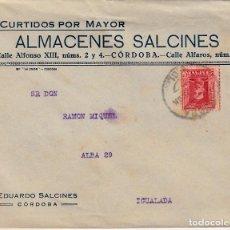 Sellos: SOBRE COMERCIAL CÓRDOBA DE CURTIDOS ALMACENES EDUARDO SALCINES. Lote 79814657