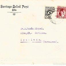 Sellos: SOBRE COMERCIAL ELDA -ALICANTE- DE SANTIAGO BELLOD PAYÁ. Lote 79815057