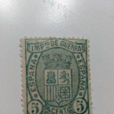 Sellos: NUEVO. EDIFIL 154. ESPAÑA. AÑO 1875. ESCUDO DE ESPAÑA. IMPUESTO DE GUERRA. 5 CTS.. Lote 80742790