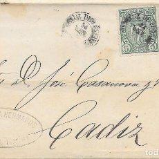 Sellos: CANARIAS. EDIFIL 164 – 154. ENVUELTA CIRCULADA DESDE SANTA CRUZ DE TENERIFE A CADIZ. 24-ENE-75.. Lote 82192152