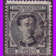 Sellos: 1876 CORONA REAL Y ALFONSO XII, EDIFIL Nº 176 (O). Lote 83583488