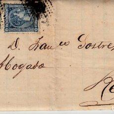 Sellos: CARTA ENTERA DE MADRID 1875 CON SELLO IMP. DE GUERRA Y COMUNICACIONES MATASELLOS ROMBO DE PUNTOS. Lote 86727700