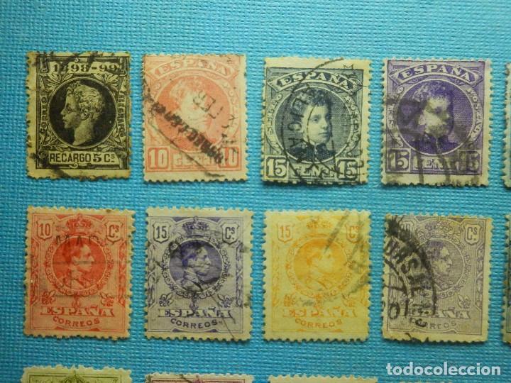Sellos: SELLO - ESPAÑA - CORREOS - LOTE DE 32 SELLOS - ISABEL II Y ALFONSO XIII - TODOS DIFERENTES - - Foto 2 - 87071780